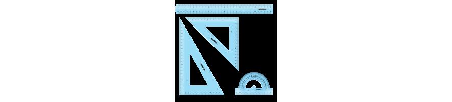 Geometri | Køb din nye passer, vinkelmåler og linealer hos os.